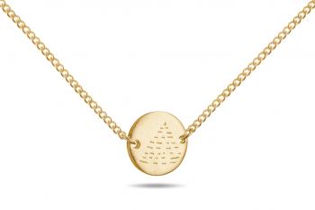 Element FIRE Choker - gold plated silver, matte