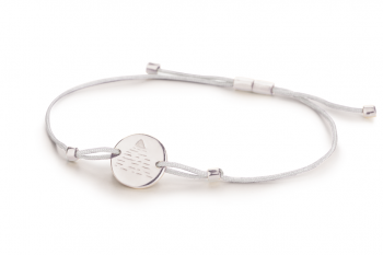 Element AIR - silver bracelet, glossy