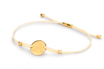 Element FIRE - silver bracelet gold plated, glossy