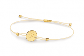 Element WATER - silver bracelet gold plated, glossy