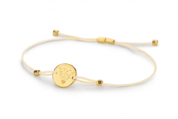 Element EARTH - silver bracelet gold plated, glossy