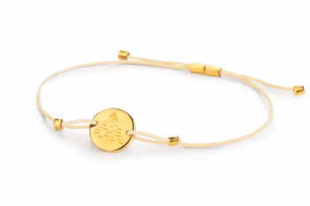 Element AIR - silver bracelet gold plated, glossy