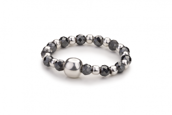 SENJA - dedicated to the desire for LOVE, hematite and silver