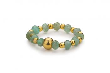 RATU EMAS Ring - prsten se smaragdem, zasvěcen touze po ROZHODNOSTI