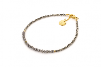 MAUI - náramek se surovými diamanty a pyritem zasvěcený touze po PROBUZENÍ